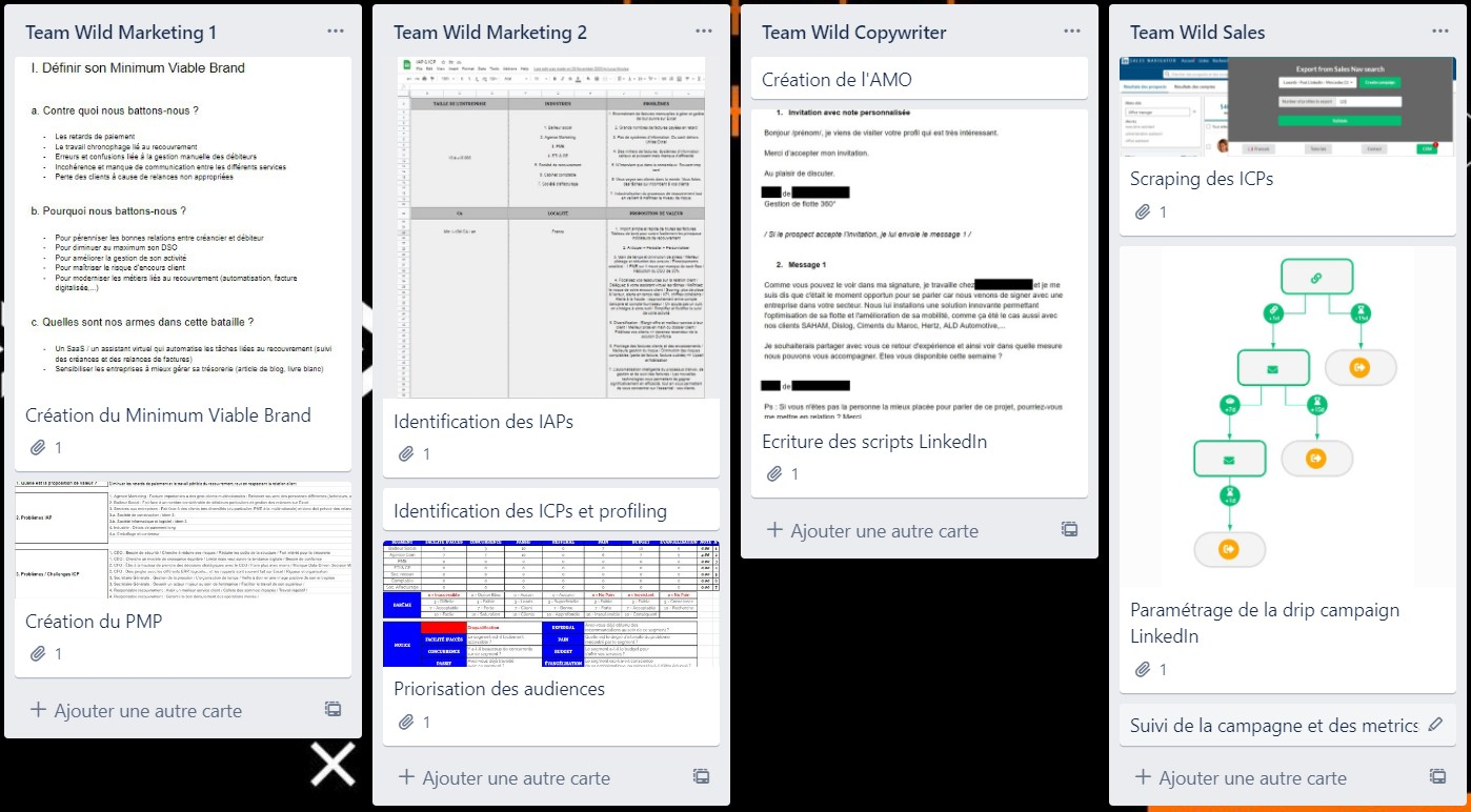 Exemple projet - LinkedIn Outbound - Wild Agency