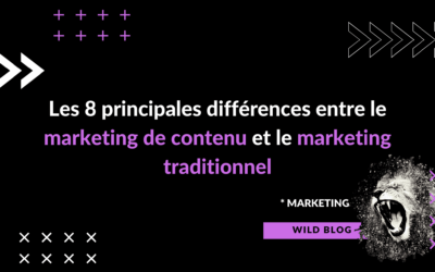 Les 8 principales différences entre le marketing de contenu et le marketing traditionnel